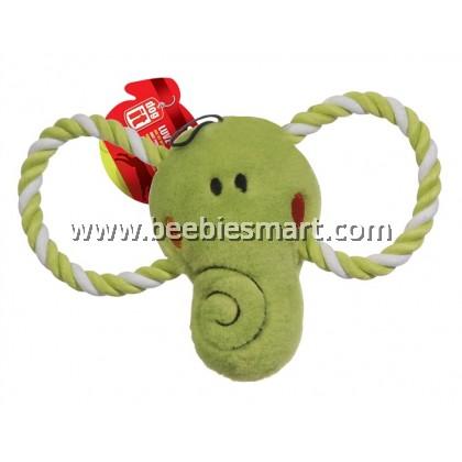 """Dogit """"Happy Luvz"""" Plush Dog Toy with Squeaker - Ed the Elephant - Large"""