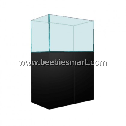 CRYSTAL CLEAR GLASS AQUARIUM AND CABINET SET - 3 FT
