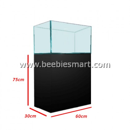 CRYSTAL CLEAR GLASS AQUARIUM AND CABINET SET - 2 FT