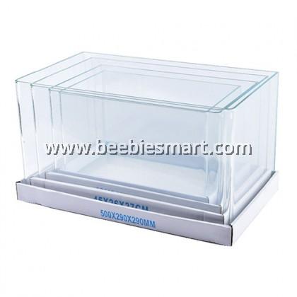 Bending Crystal Glass Aquarium U Tank 45 x 28 x 30 cm