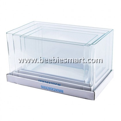 Bending Crystal Glass Aquarium U Tank 50 x 33 x 35 cm