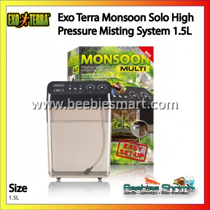 Exo Terra Monsoon Solo High Pressure Misting System 1.5L