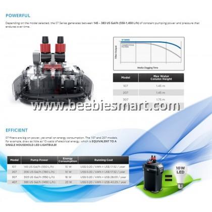 Fluval Canister External Filter 07 Series Fluval 107/207/307/407