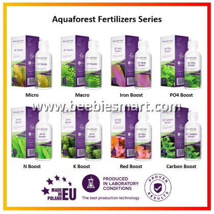 Aquaforest Freshwater Fertilizer Series / Micro / Macro / Iron Boost / Carbon Boost / Red Boost / PO4 Boost / N Boost / K Boost
