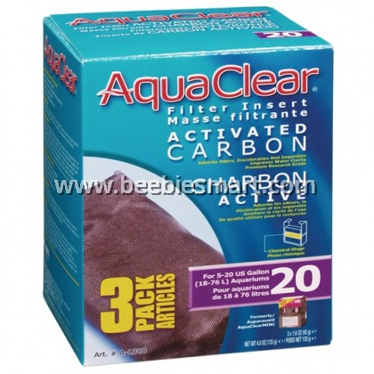 AquaClear 20 Activated Carbon Filter Insert - 135 g