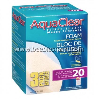AquaClear 20 Foam Filter Insert - 3 pack