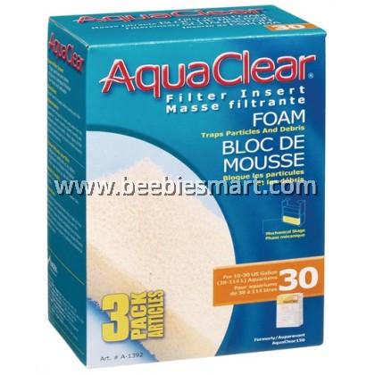 AquaClear 30 Foam Filter Insert - 3 pack