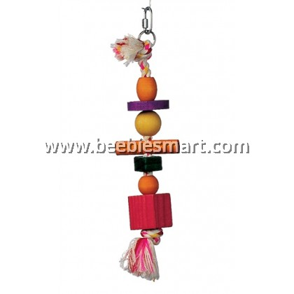 Living World Junglewood Bird Toy - Large Bead and Block Ring