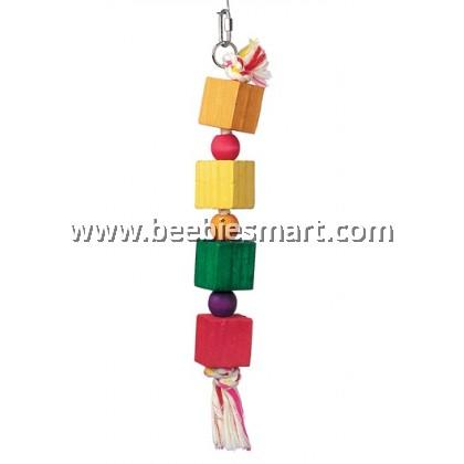 Living World  Junglewood 4 Blocks 4 Beads Rope