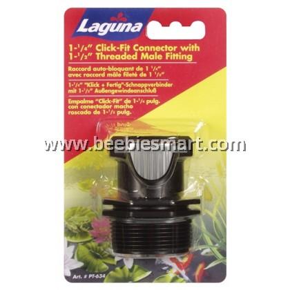 "Laguna 3.17 cm (1 1/4"") Click-Fit, 3.8 cm (1.5"") Threaded Male Fitting"