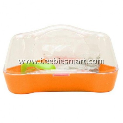 Living World Corner Toilet for Hamsters and Gerbils - Orange