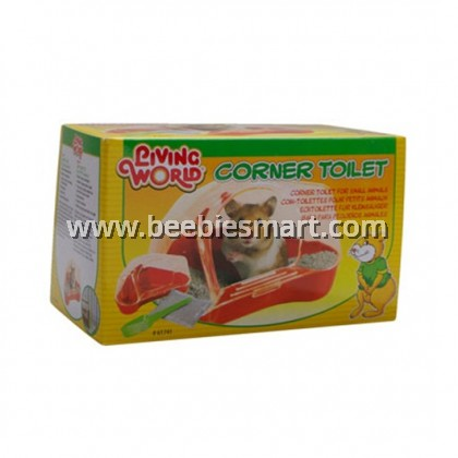 Living World Corner Toilet for Hamsters and Gerbils - Red